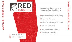 Red Scientific Popup Display