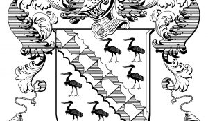Coat of Arms in black and white