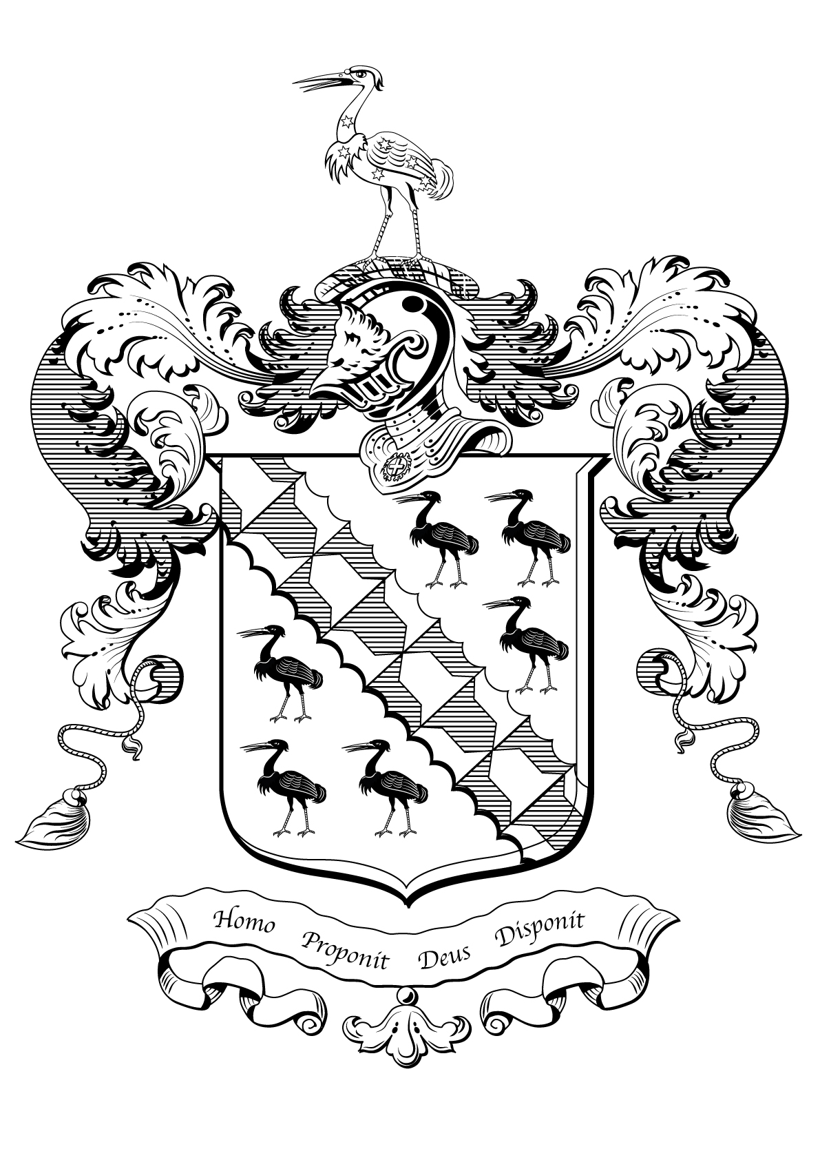 Coat of arms black and white