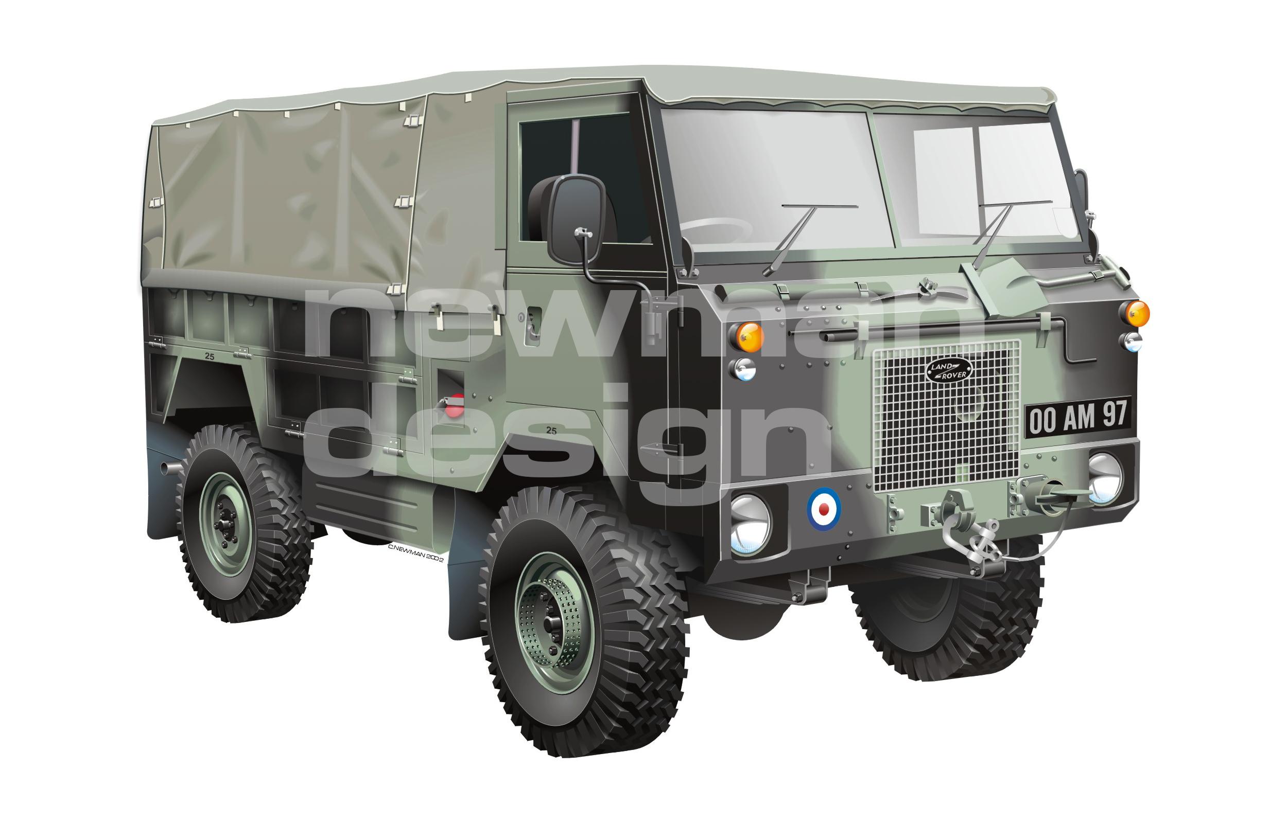 Land Rover 101 Forward Control Illustration