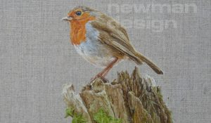 When Robins Appear – oil painting