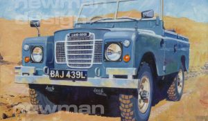 Land Rover Series 3 88″ Acrylic Painting