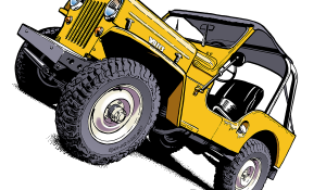 Willys Jeep CJ3B Cartoons