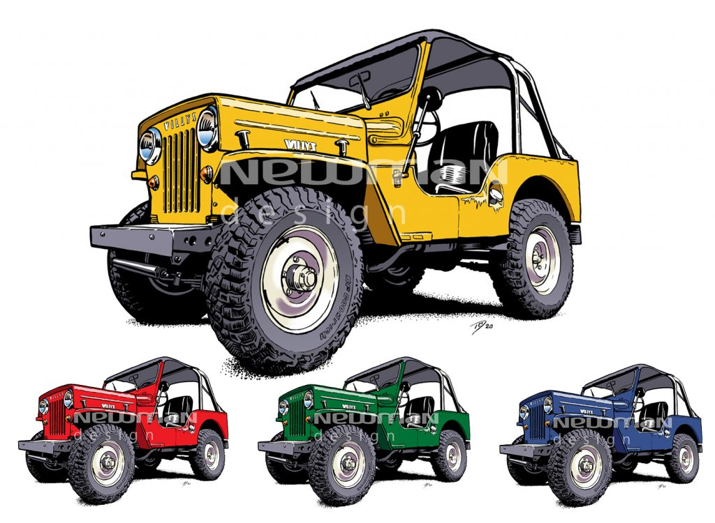 Willys jeep 3A cartoons