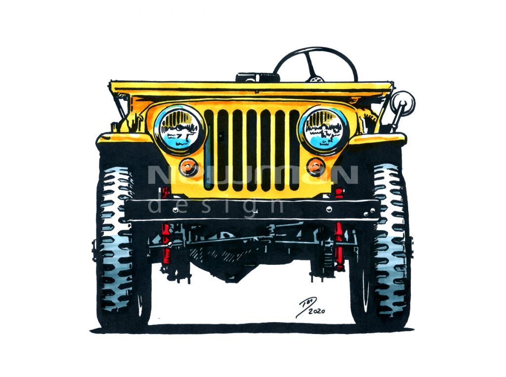 Pantone markers Willys 2a jeep