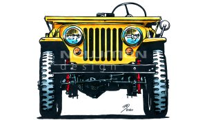 Willys Jeep CJ2A Cartoons