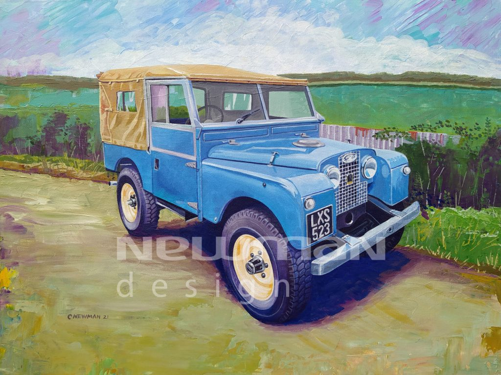 Land Rover Series 1 Acrylic Painting