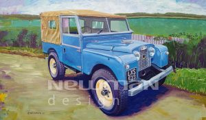 Land Rover Series 1 86″ Acrylic Painting